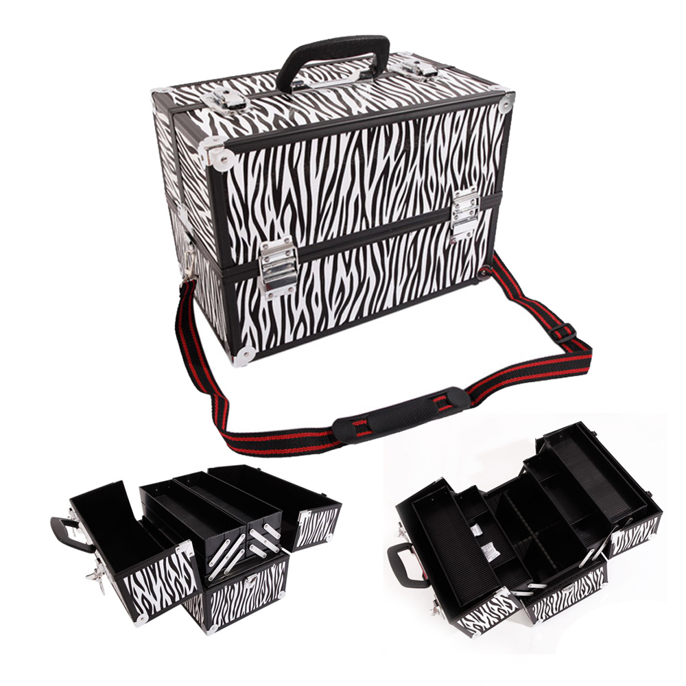 778d2e29ca974a Professional Large Nail Tech Storage Make Up Vanity Case Cosmetic Beauty  Box New