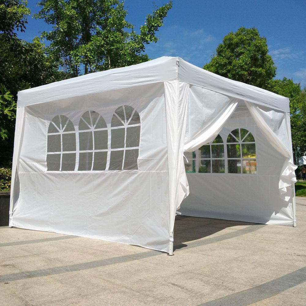 10 X10 Ez Pop Up Wedding Party Tent Folding Gazebo Canopy