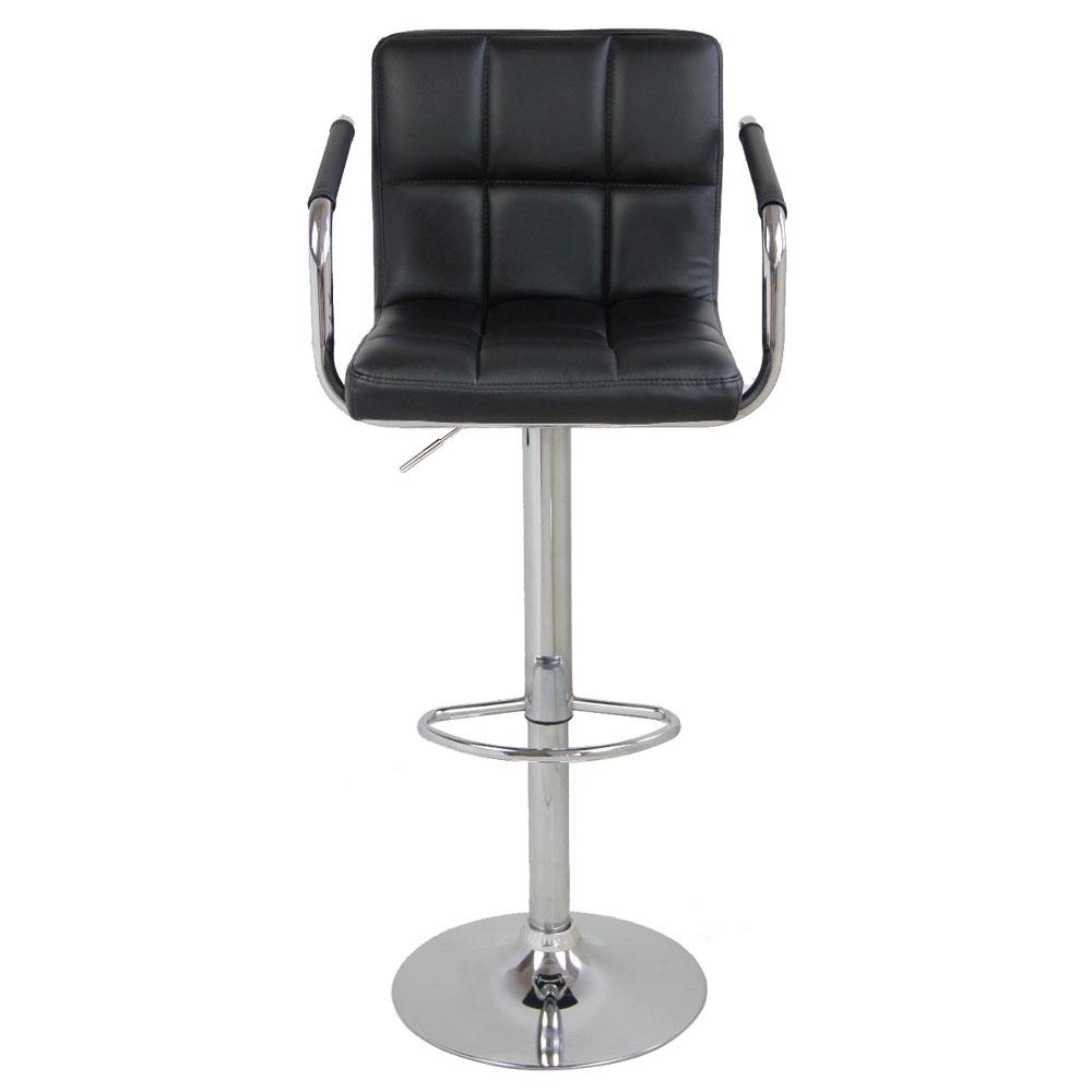 Peachy Details About Set Of 2 Pu Leather Modern Swivel Bar Stool W Arm Adjustable Hydraulic Barstool Machost Co Dining Chair Design Ideas Machostcouk