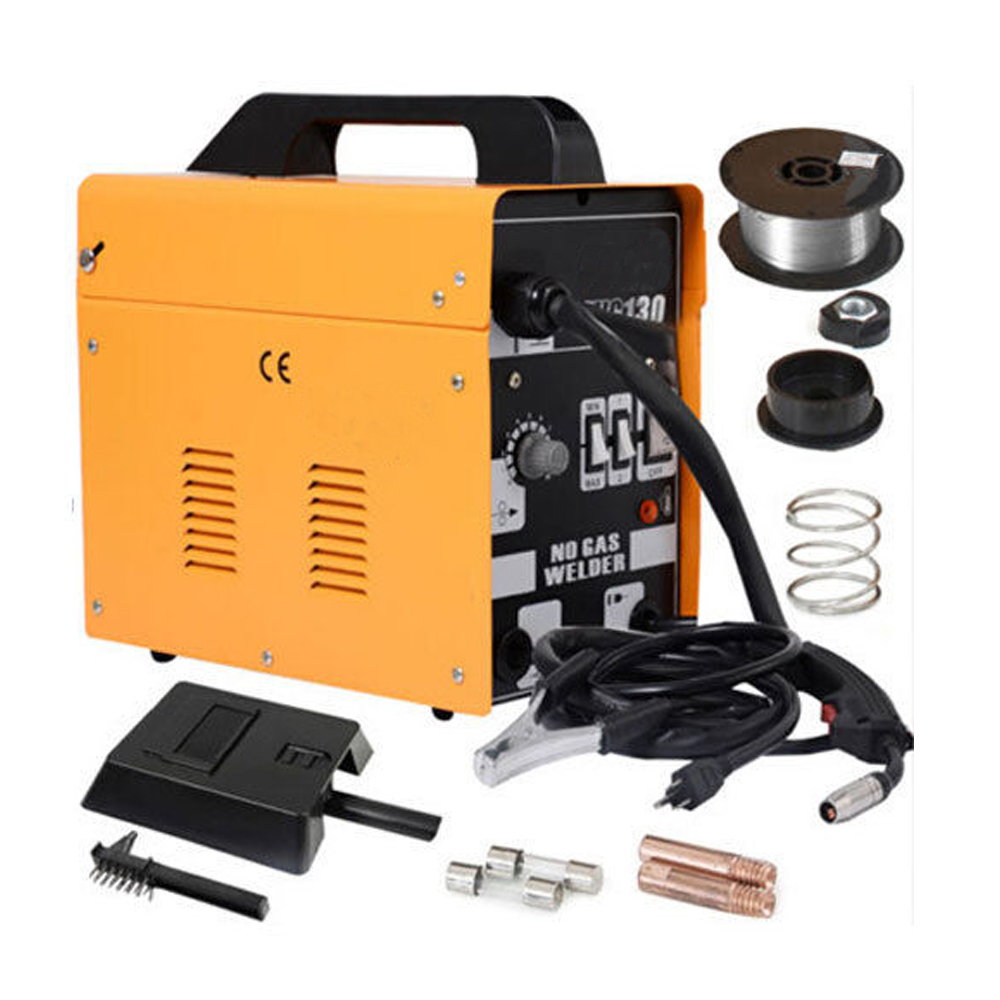 Mig 130 Welders Gas Less Flux Core Wire Automatic Feed