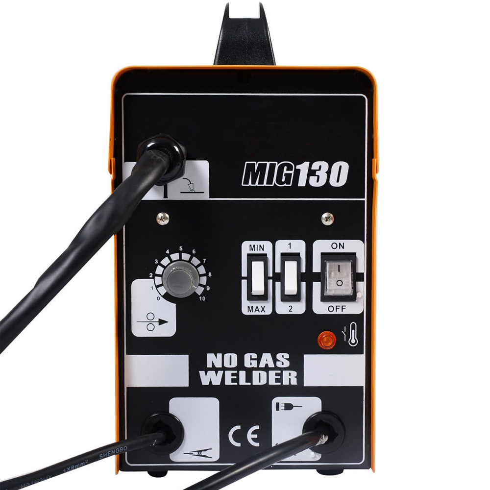 Mig 130 Welders Gas Less Flux Core Wire Automatic Feed Welding Wiring For 220v Welder Note Not Included 110 Plug Please Buy It By Yourself