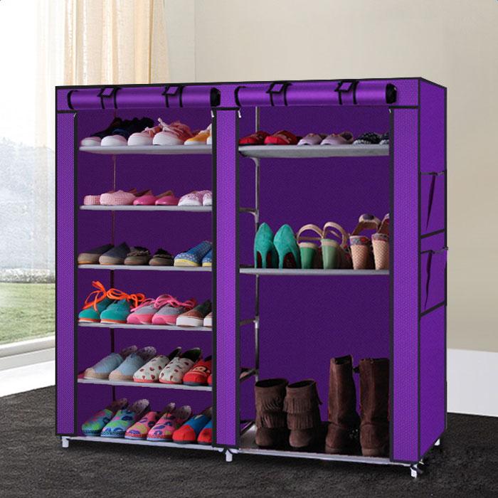 New Portable Shoe Rack Shelf Shelves Storage Closet Organizer Cabinet W/  Cover