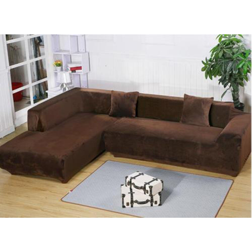 L Shape Design Stretch Sofa Cover Sectional Corner Couch Elastic