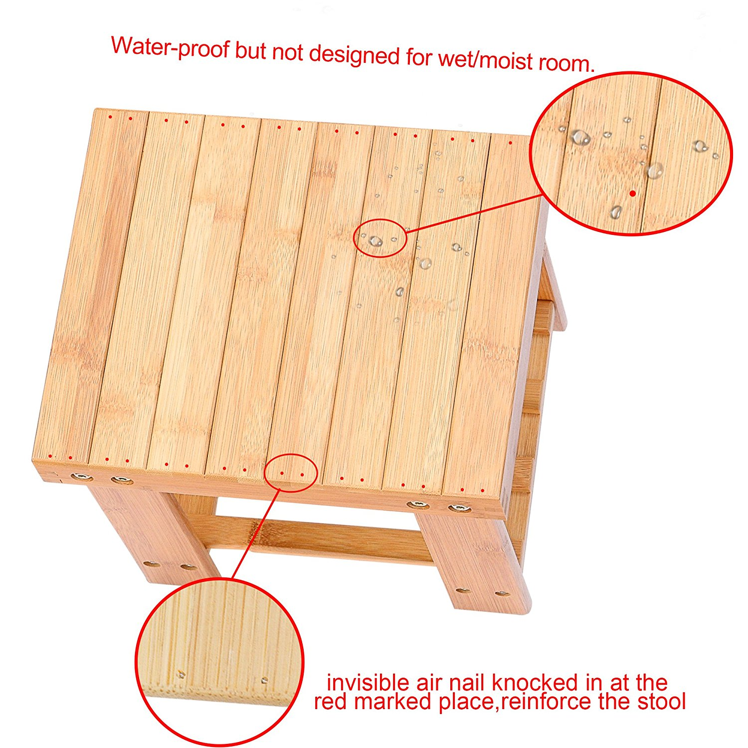 Admirable Details About Multfunctional Small Bamboo Step Stool Seat W Storage Shelf For Kids Foot Pads Beatyapartments Chair Design Images Beatyapartmentscom