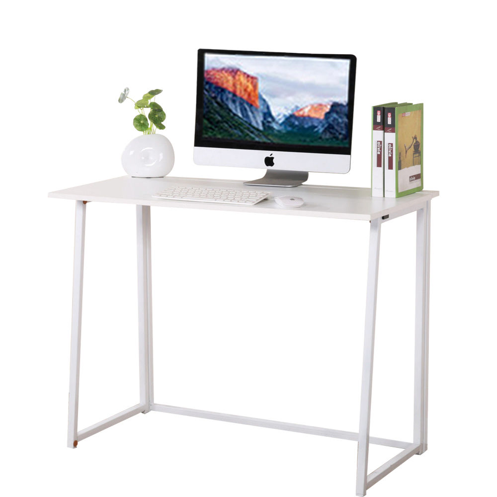 Portable Home Office Desk Folding Computer Table Workstation Furniture