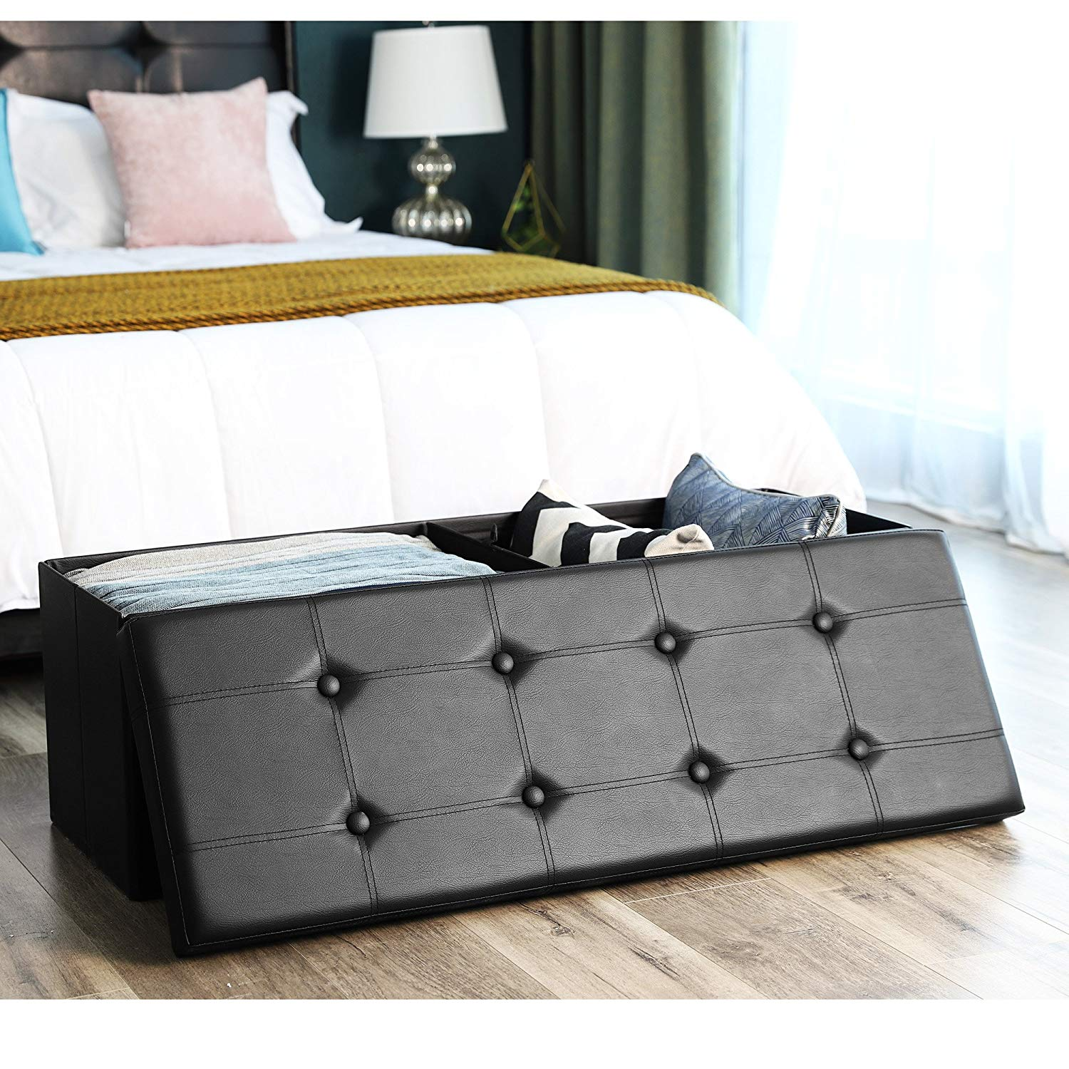 Superb Details About Large Folding Storage Bench Ottoman Organizer Furniture For Bedroom Living Room Inzonedesignstudio Interior Chair Design Inzonedesignstudiocom