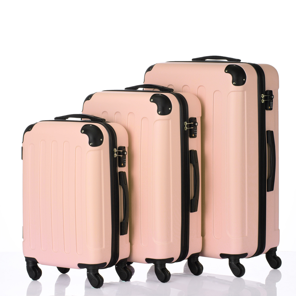 71d4e1429 3Pcs Luggage Set PC+ABS Trolley Spinner 20