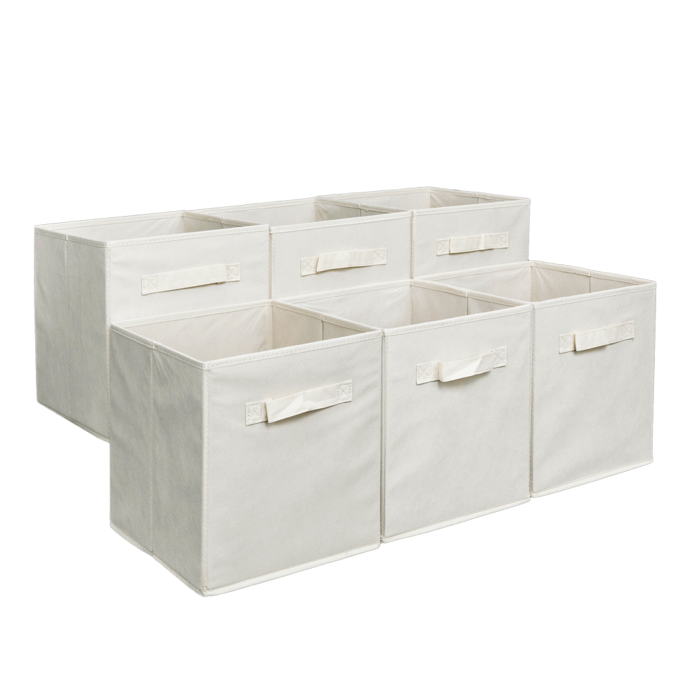 670f4093a795 Details about Storage Cube Folding Drawers Clothes Stackable Organizer Box  Bin 6 Pack Colors