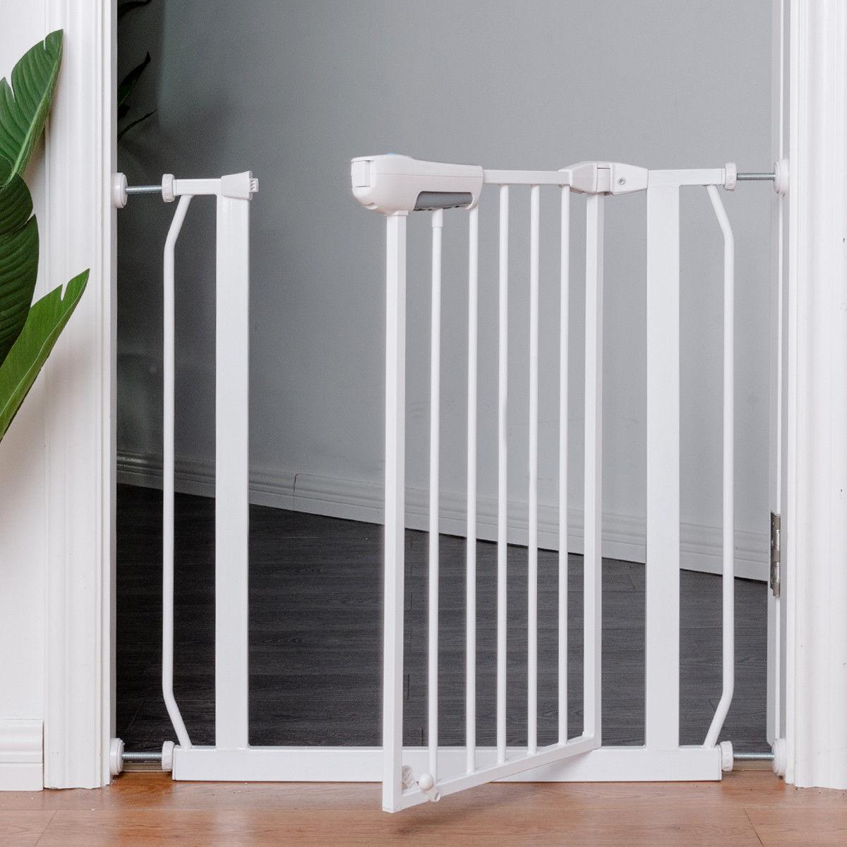Superieur Details About Easy Locking System Kids Baby Pet Safety Gate Door Walk  Through Toddler White