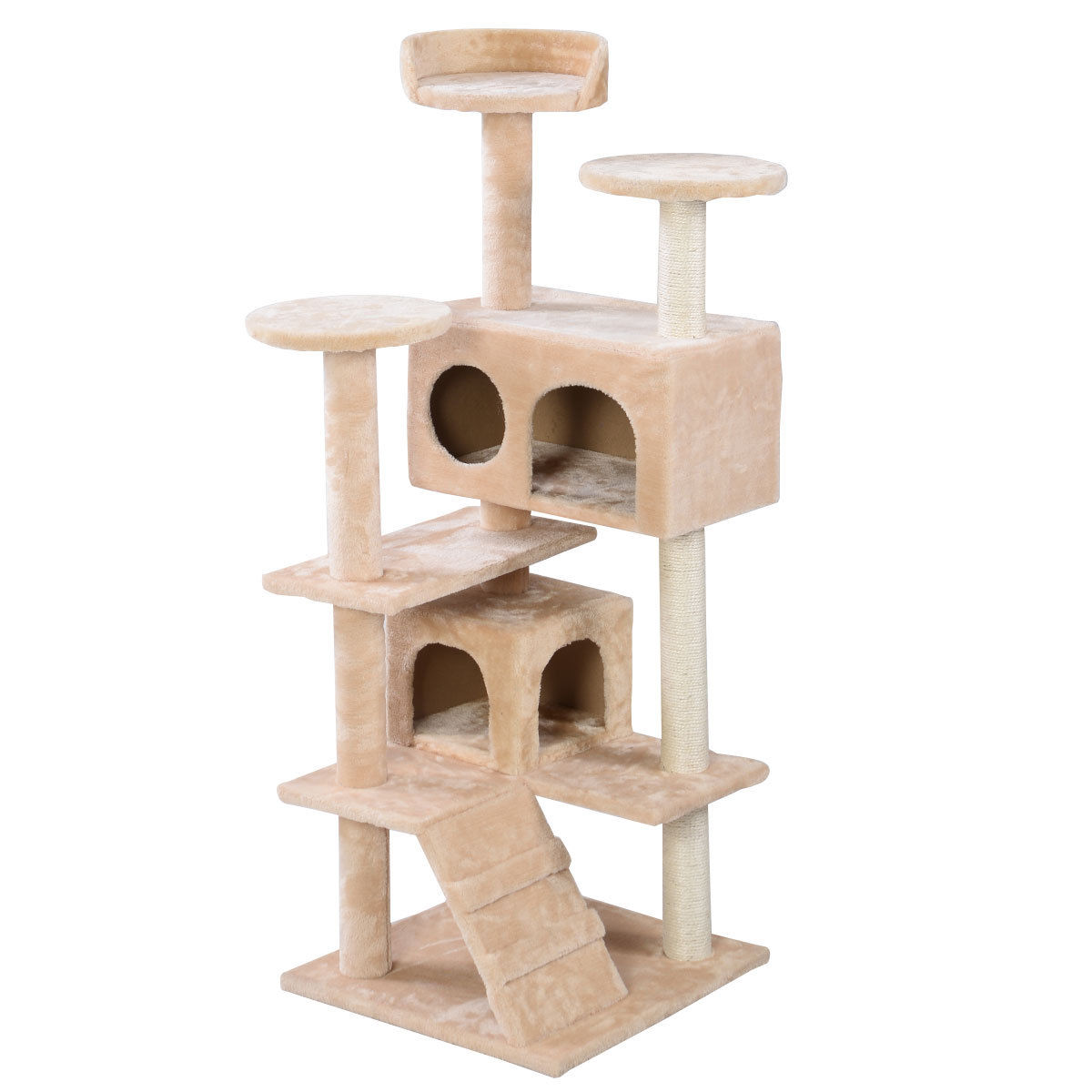 """52"""" Cat Tree Tower Beige Condo Home Scratch Post Kitty Pet"""