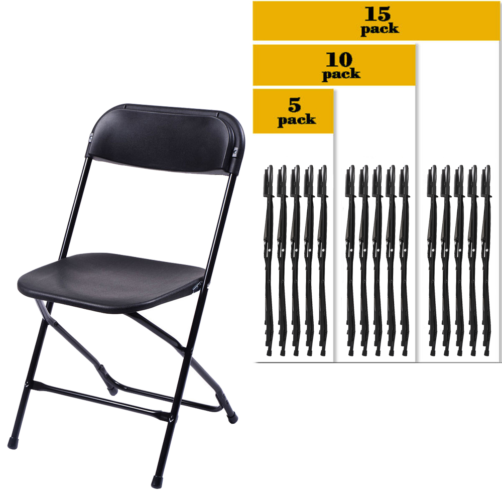5 to 15 pack commercial wedding quality stackable for Good quality folding chairs