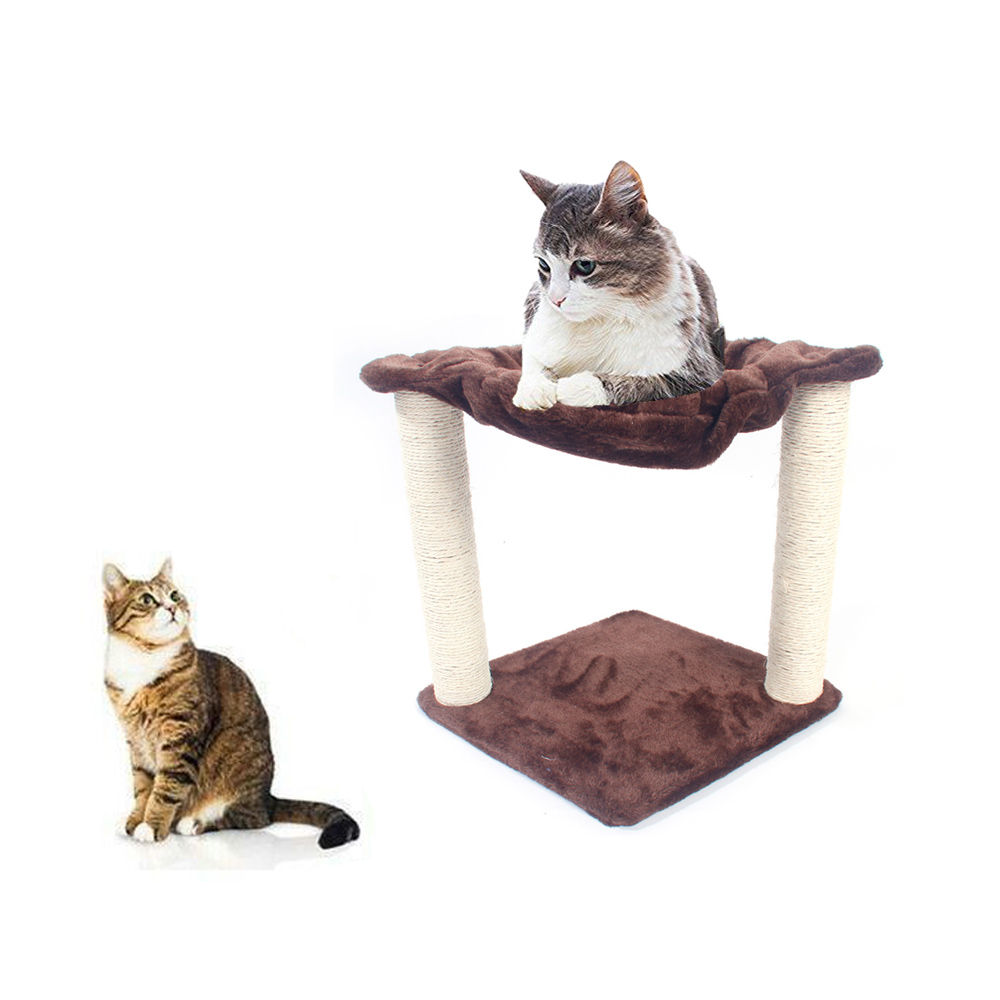 16 brown pet cat tree play house tower condo bed scratch. Black Bedroom Furniture Sets. Home Design Ideas
