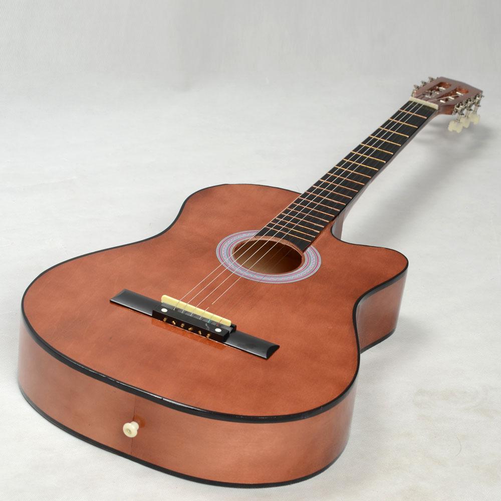 new 38 coffee cutaway plywood 19 frets 6 strings practice acoustic guitar 818220091148 ebay. Black Bedroom Furniture Sets. Home Design Ideas