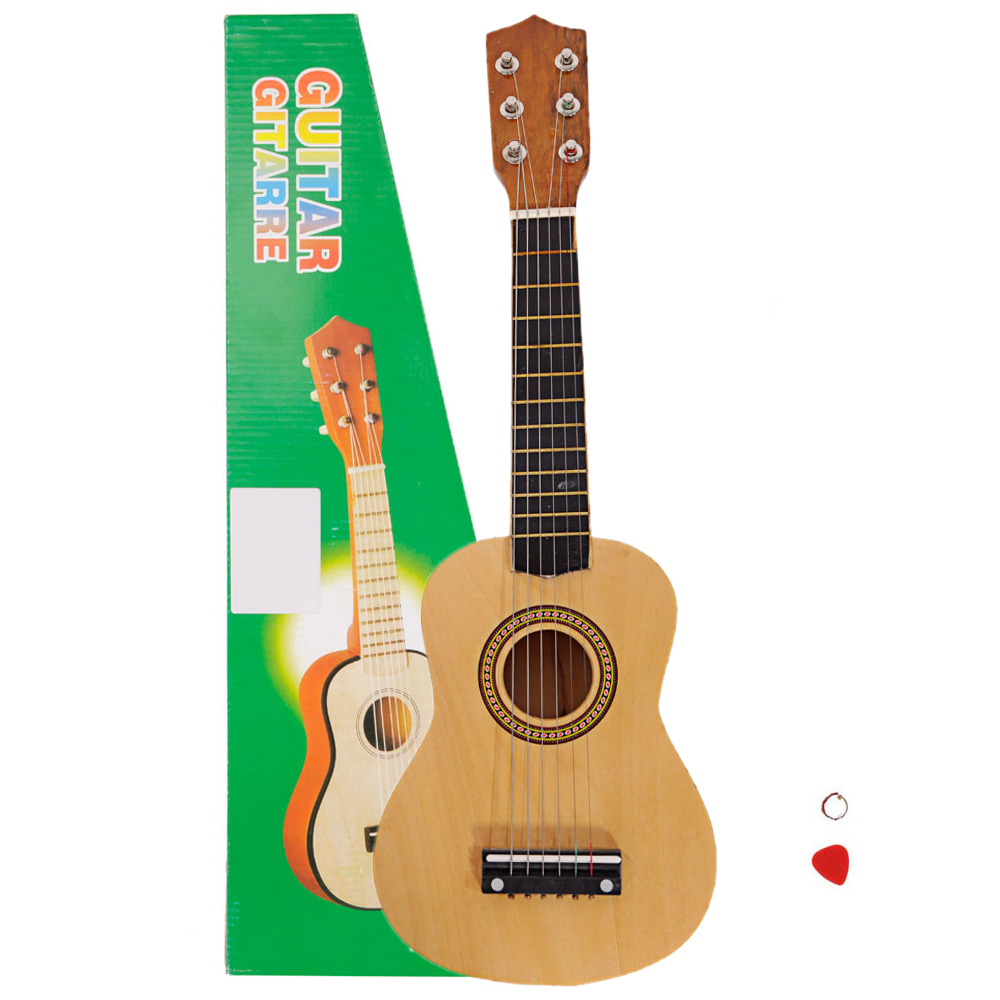 21 beginners kids acoustic guitar 6 string with pick children kids gift wood ebay. Black Bedroom Furniture Sets. Home Design Ideas