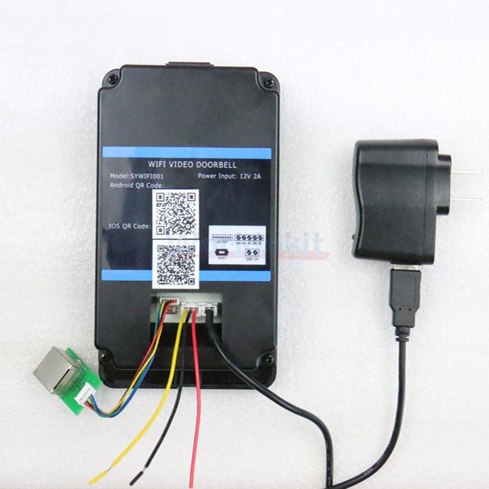 Wireless Wifi Ir Video Camera Door Bell Phone Rainproof
