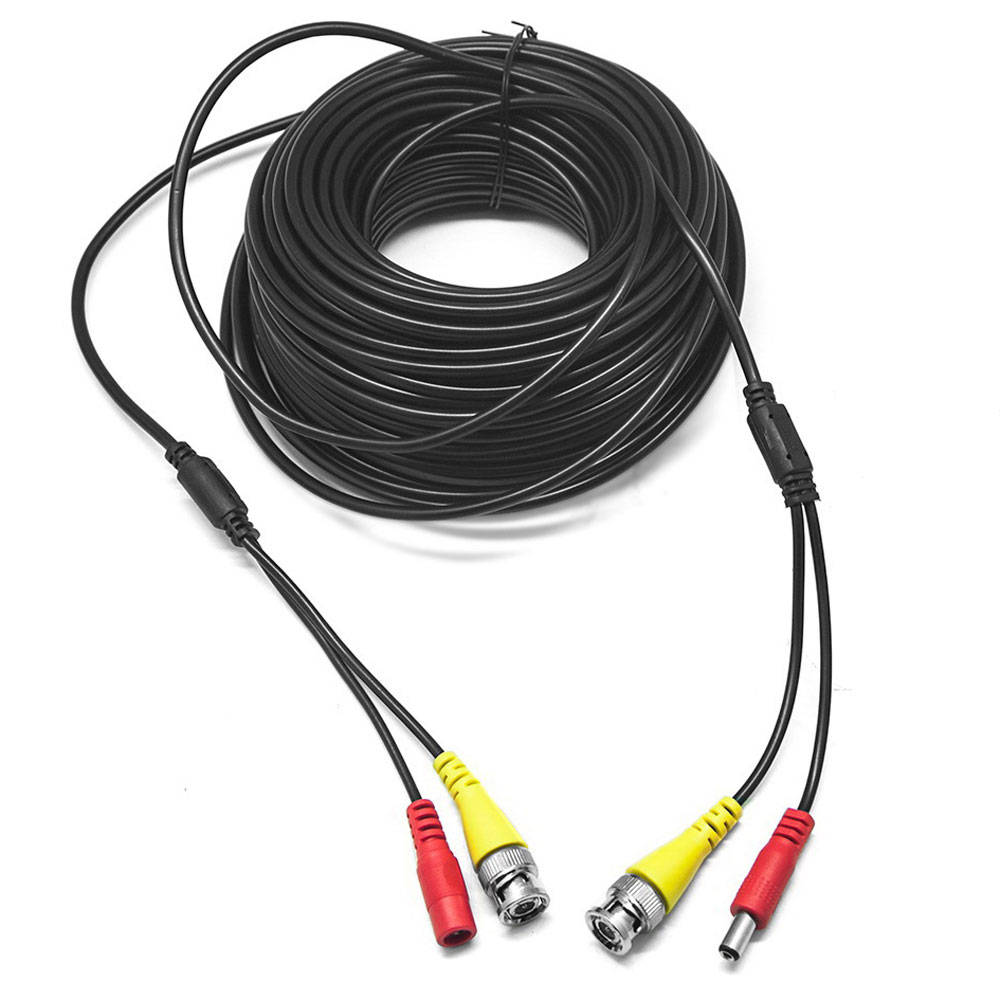 20m Home Bnc Rca Dc Video Power Cable For Cctv Security Camera Wiring System Hot