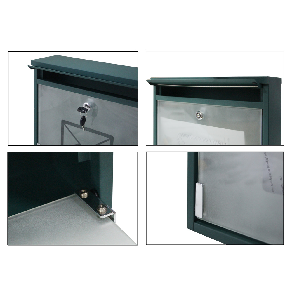 Wall Mount Laptop Safe : Durable iron mailbox wall mount storage letter safe post