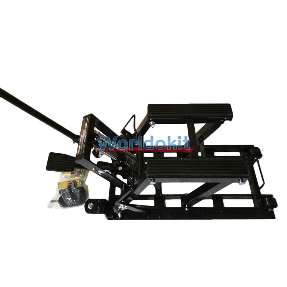 Motorcycle Lift Jack 1500lbs 680kg Hydraulic Atv Stand Tools Table