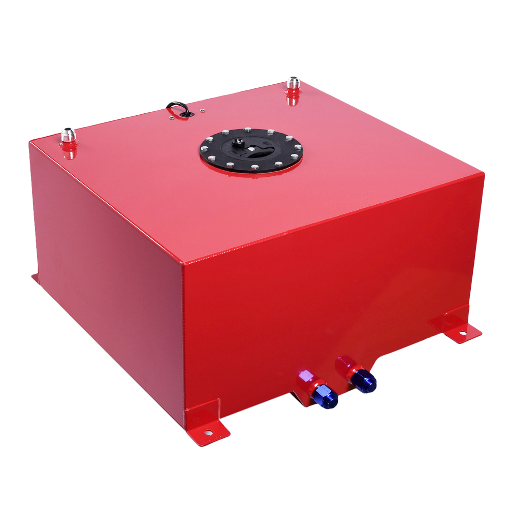 Details about 15 Gallon Alloy Aluminum Fuel Cell Tank w/ Level Sender  Anti-slosh Foam Red