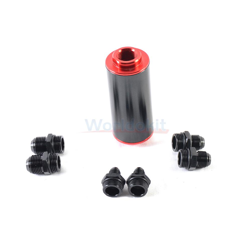 Universal Hi Flow Performance Fuel Filter 100 Micron Cleanable An6 1999 Altima An8 An10 Blk