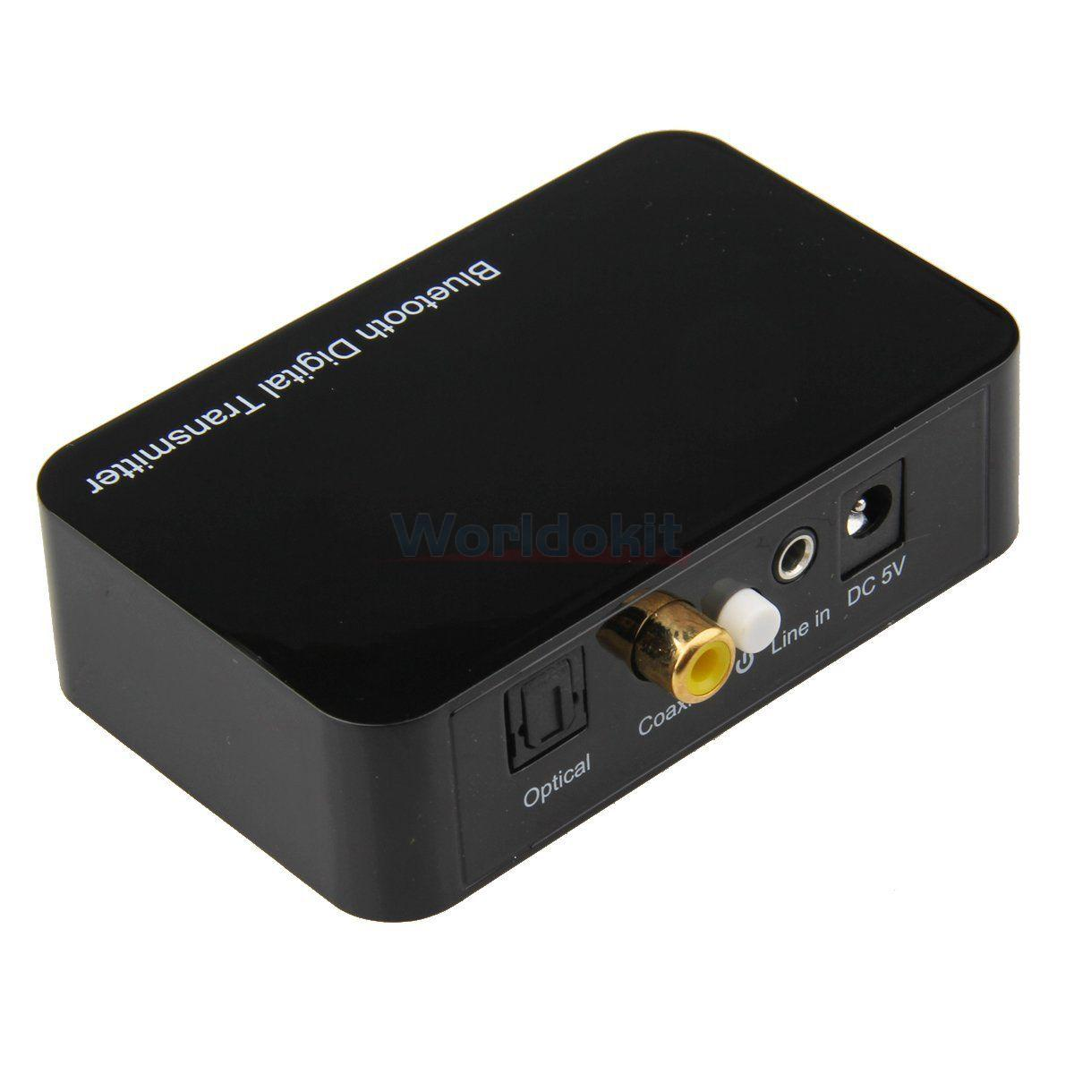 Fiber Optic Coaxial 35mm Audio Bluetooth Digtial Transmitter For Tv With Pc Dvd Box