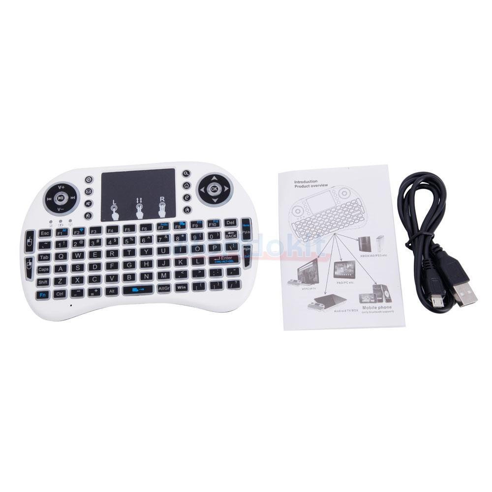 Lot 2 3 Colors Backlit I8 Mini Wireless Keyboard Touchpad For Tv Box With Colour Backlight Android Pc