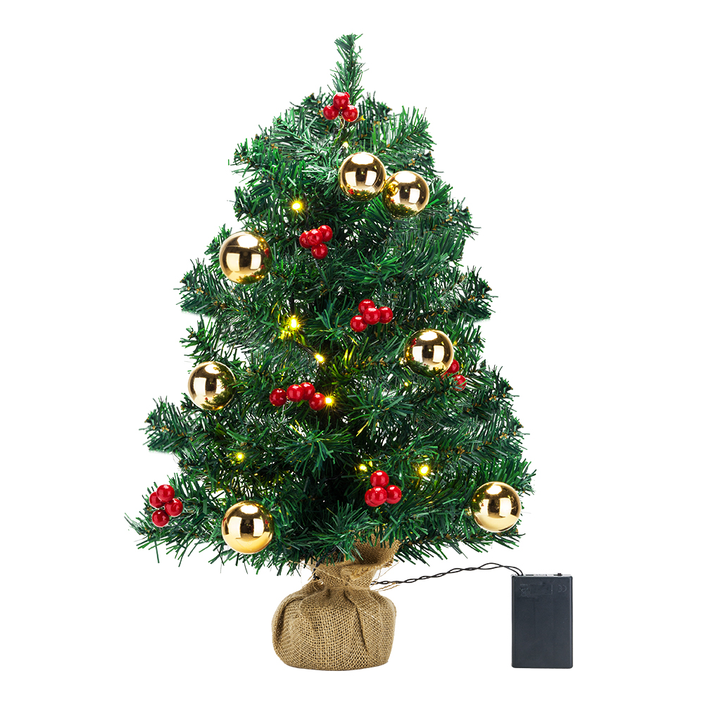 Cute Tabletop Artificial Small Mini Christmas Tree w/ LED ...