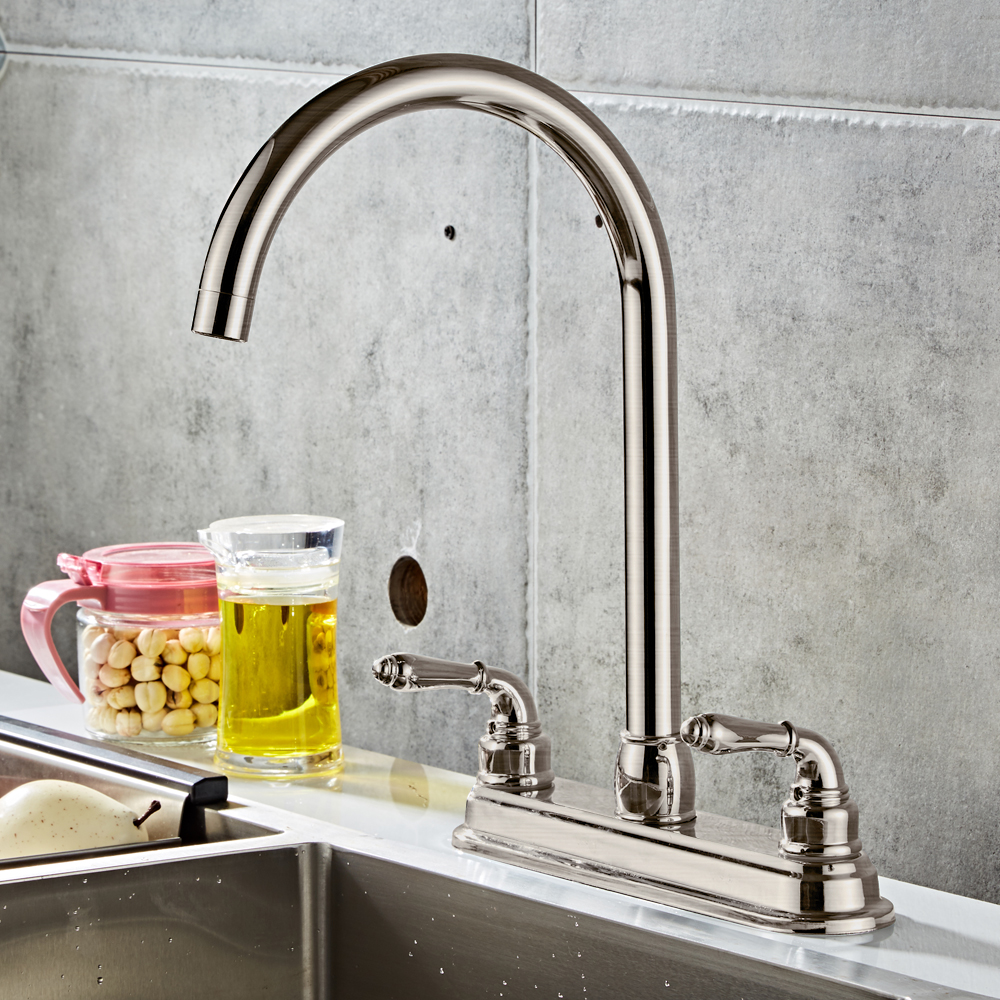 New 2 Handle Single Hole Rv Mobile Home Kitchen Sink Faucet