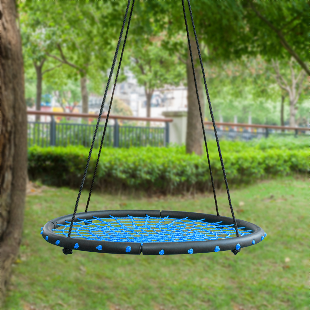 Tree Net Swing Giant 40 Wide Two Person Outdoor Web Rope Swing Set