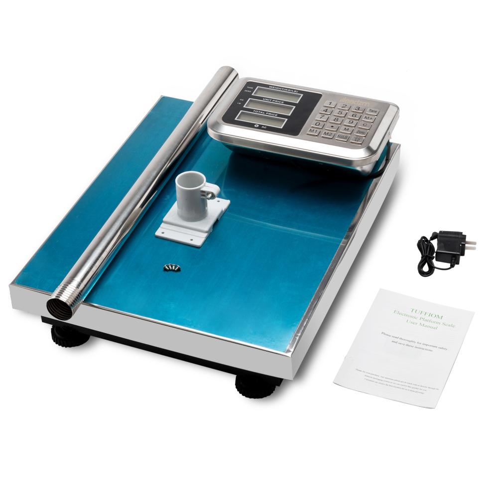 Details about 660lb 300kg Digital Floor Platform Scale Digital Shipping  Postal Tabletop Scales