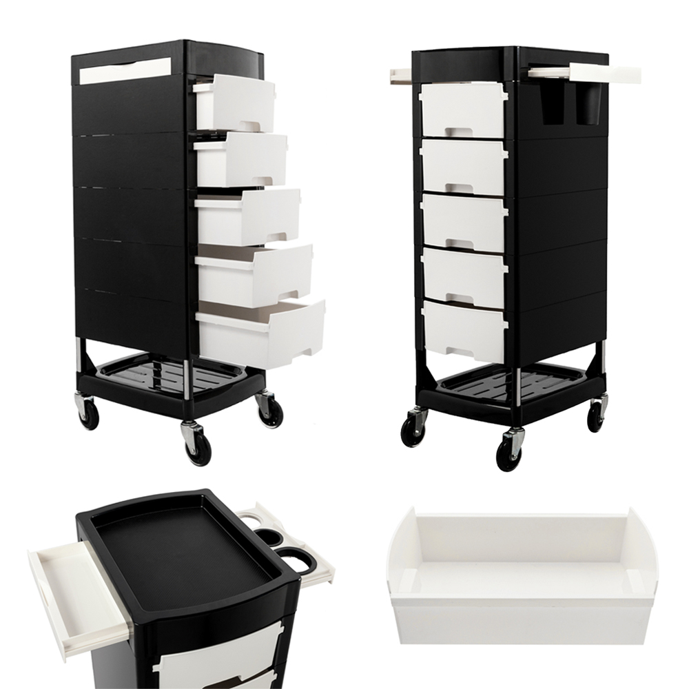 beauty salon trolley cart storage rolling hair stylist station with 5 drawers ebay. Black Bedroom Furniture Sets. Home Design Ideas