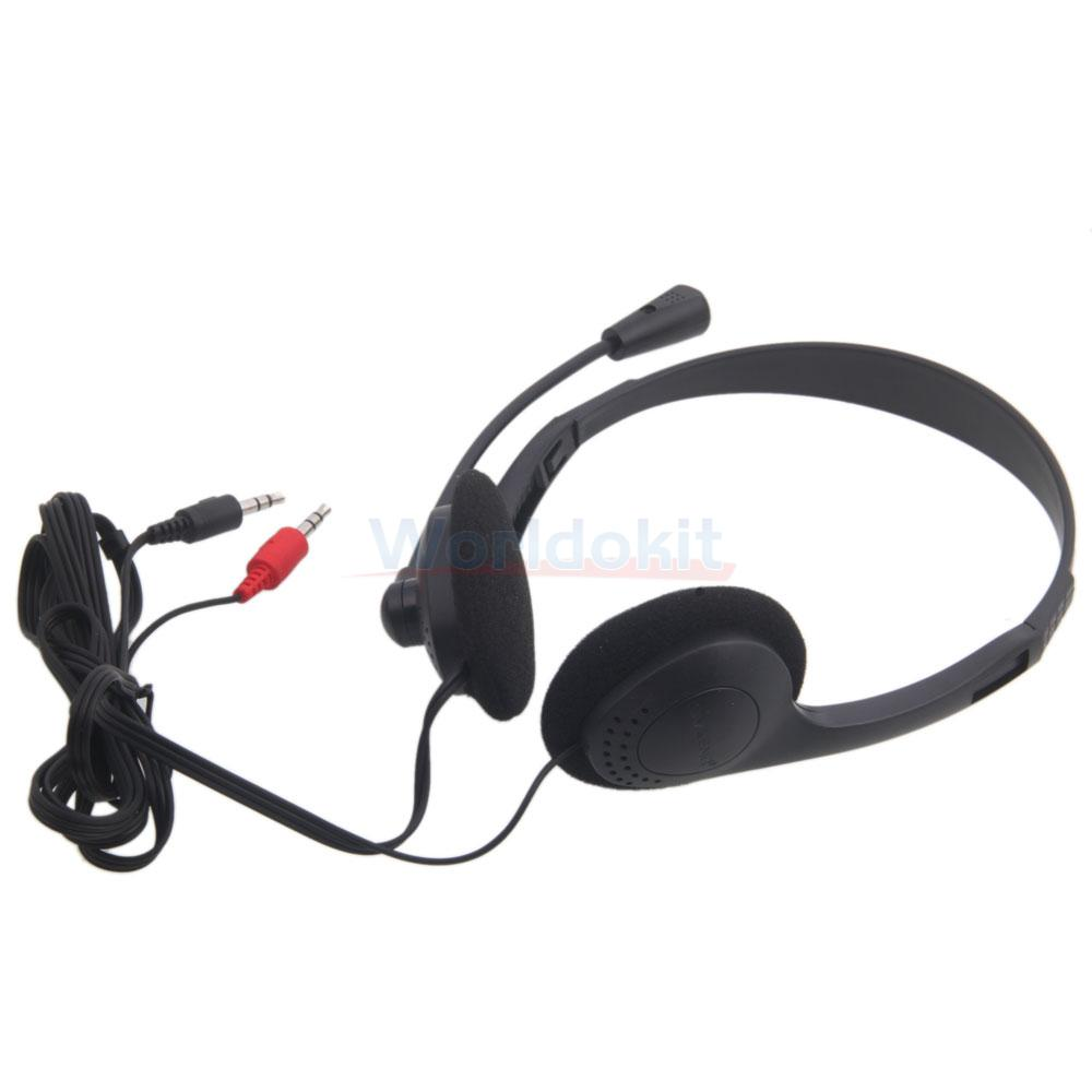 3.5mm Wired Stereo Headset with Mic Microphone Headphone ...